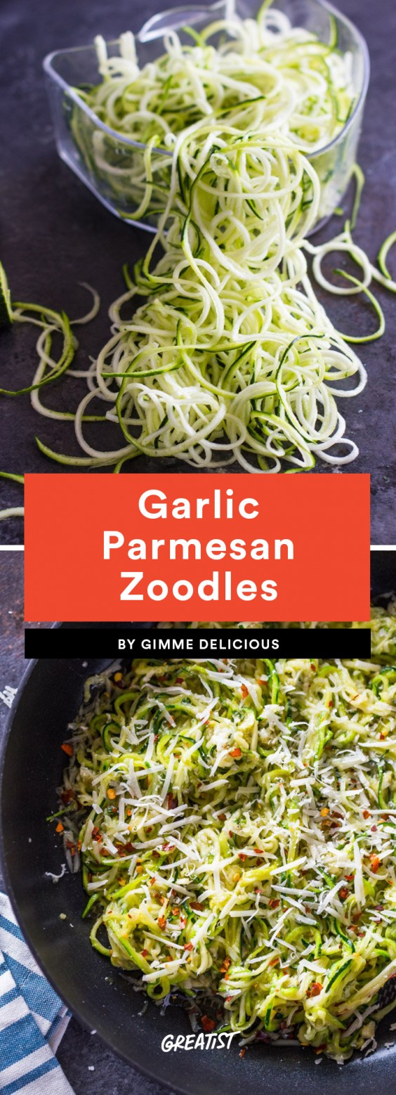 Garlic Parmesan Zoodles Recipe