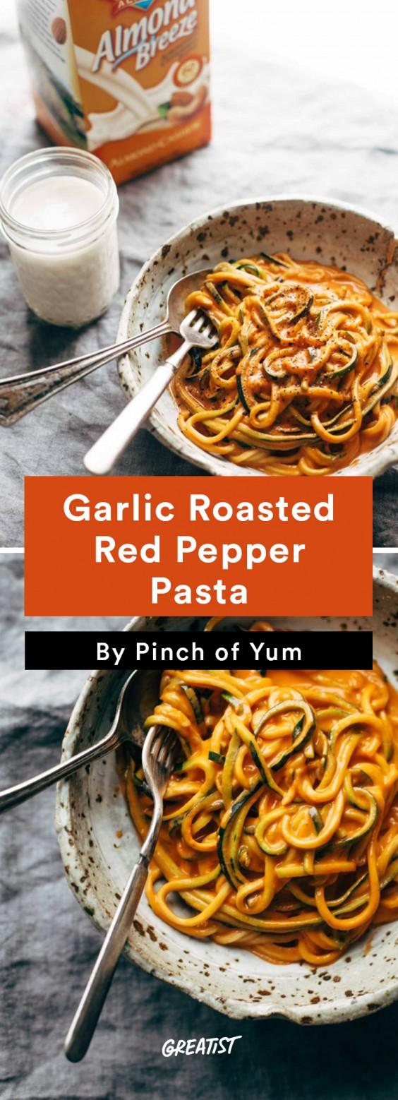 Cashew Milk roundup: Cashew Roasted Red Pepper Pasta