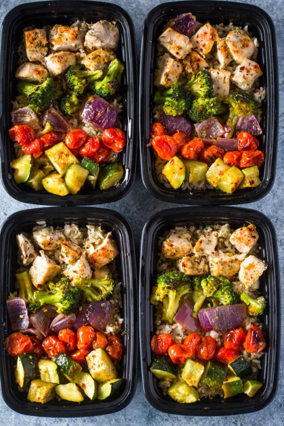 Chicken breast recipes 21 meal prep ideas that wont get old healthy roasted chicken and veggies forumfinder Gallery