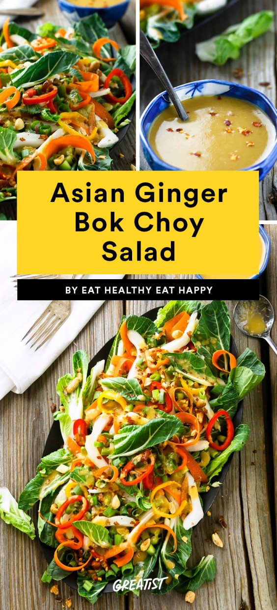Asian Ginger Bok Choy Salad