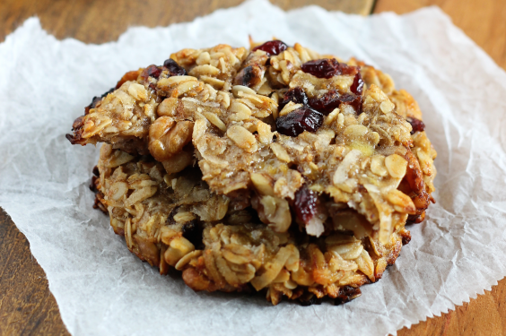Gluten-Free Cranberry Walnut Breakfast Cookies