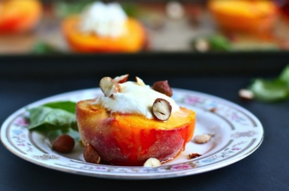 Goat Cheese Peaches