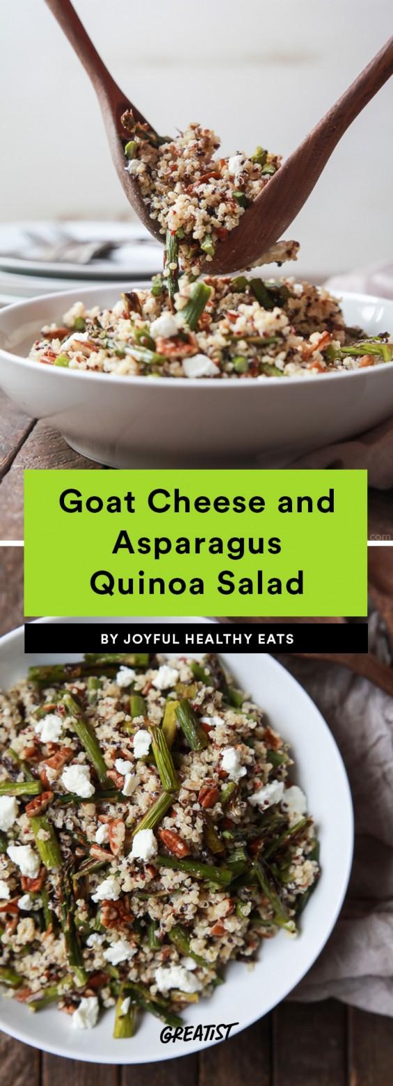 Goat Cheese Asparagus Quinoa Salad