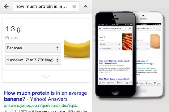 Google Nutritional Information