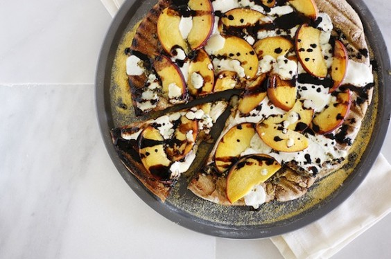 Gorgonzola Peach Pizza