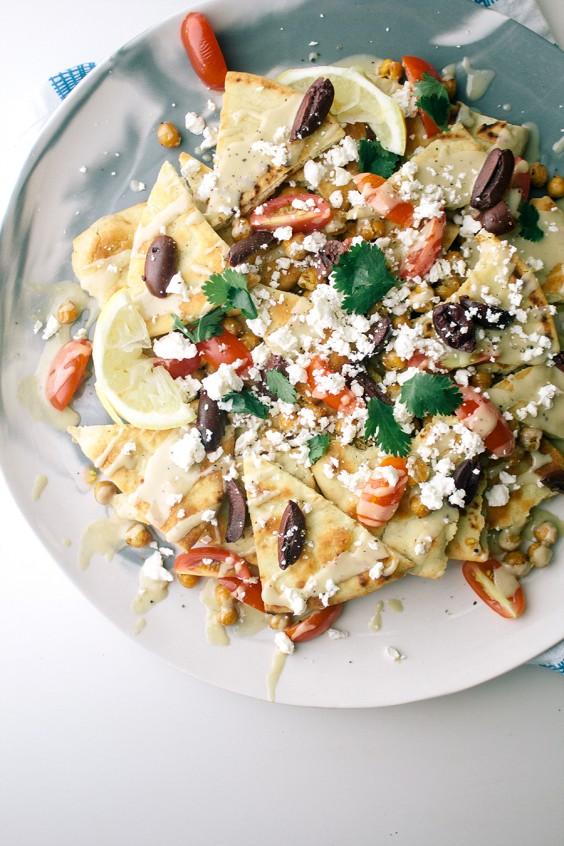 Greek Goddess Pita Chip Nachos Recipe
