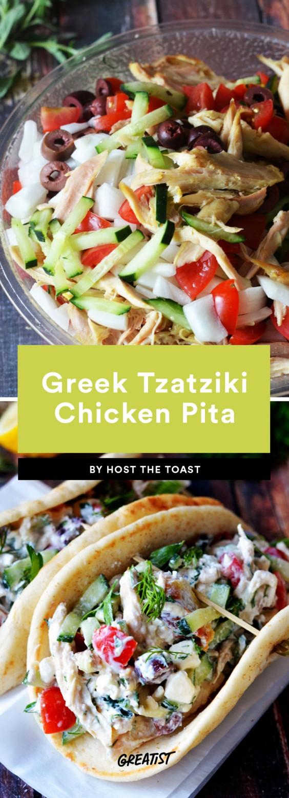 Greek Tzatziki Chicken Pita