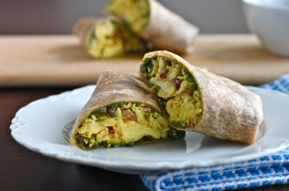 Healthy Breakfast Recipe: Green Eggs and Ham Breakfast Burrito