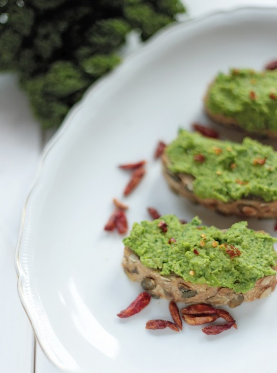 17. Green Pea and Kale Spread