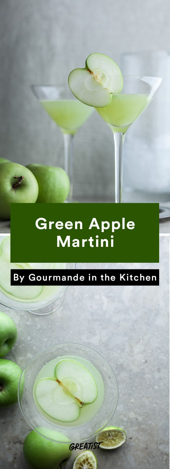 apple cocktails: Green Apple Martini