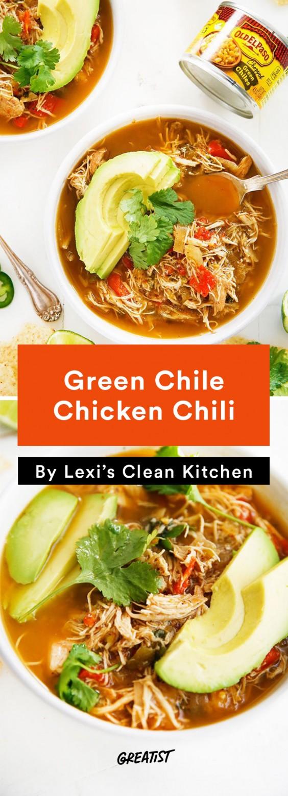 Lexi's Clean Kitchen Green Chile Chicken Chili