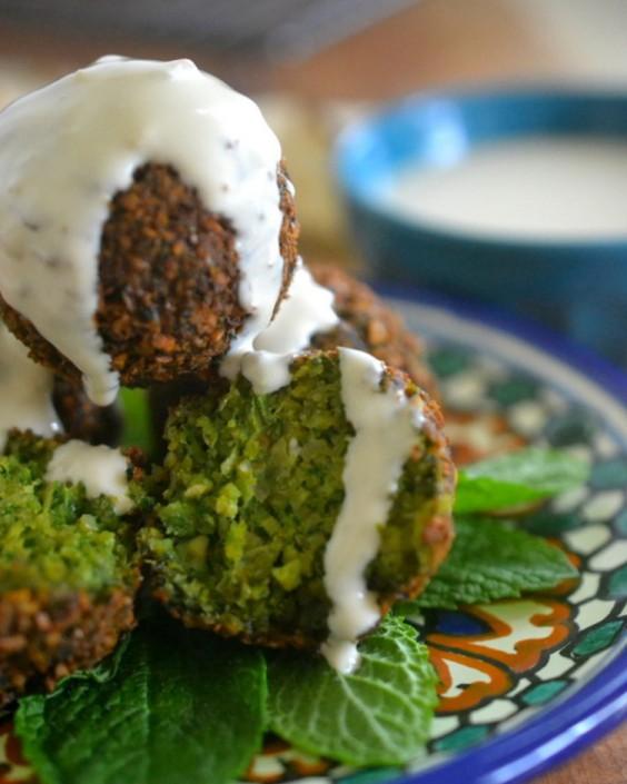 The Best Green Falafel
