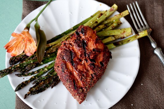 Grilled Blackened Tuna Steaks
