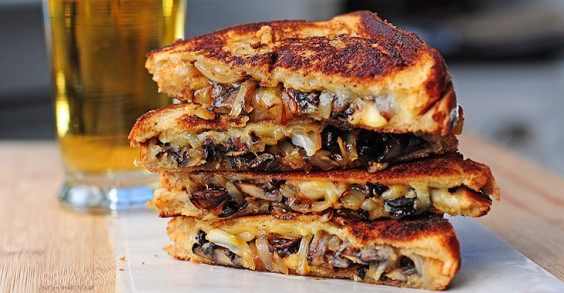 9 Gourmet Grilled Cheese Recipes: Gouda, Roasted Mushrooms, and Onions