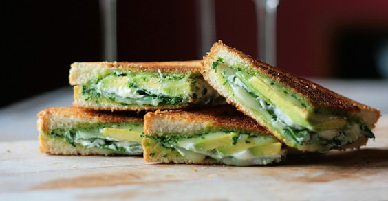 9 Gourmet Grilled Cheese Recipes: Green Goddess