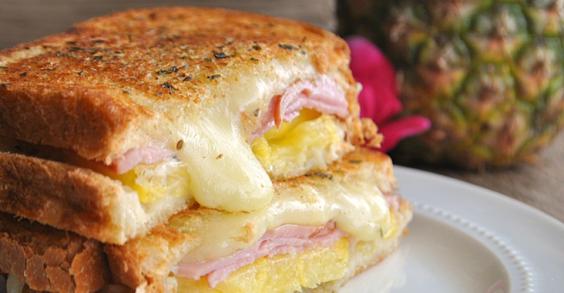 9 Gourmet Grilled Cheese Recipes: Hawaiian