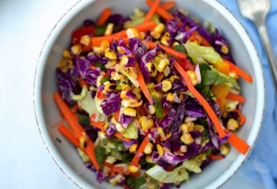 Grilled Corn Coleslaw