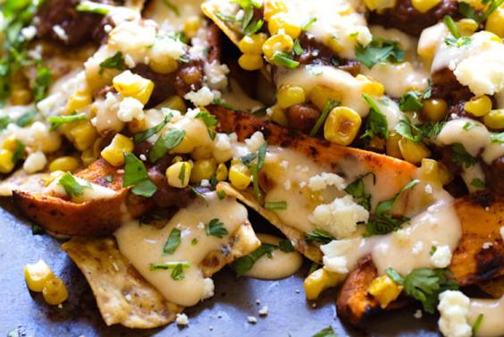 9 Nacho Recipes: Grilled Sweet Potato Nachos