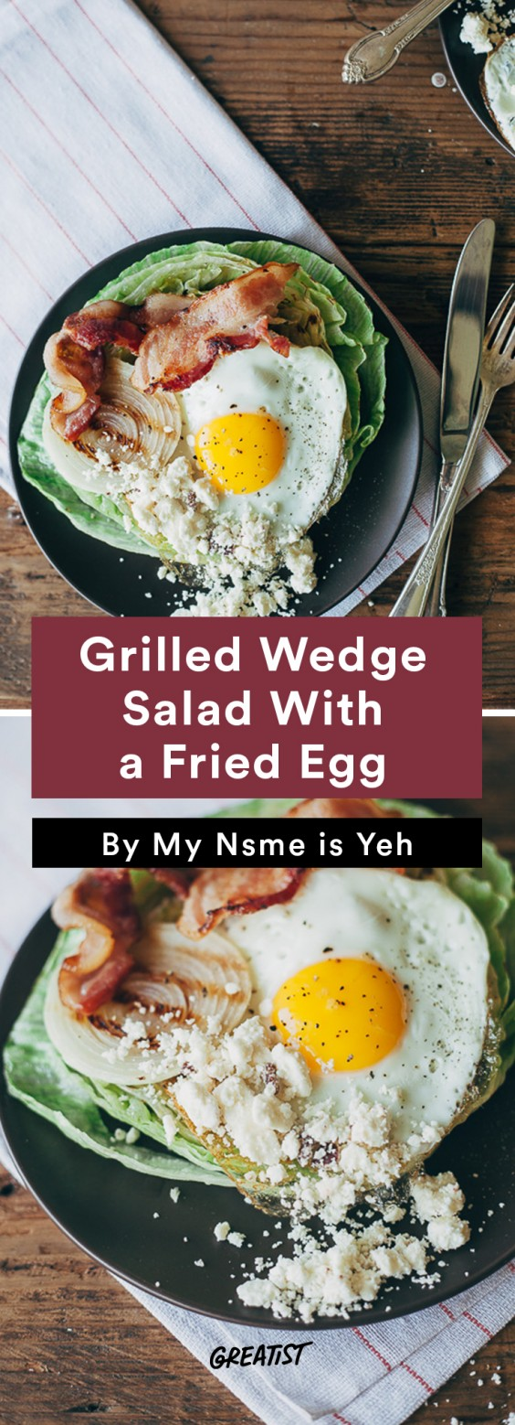 warm salads: Grilled Wedge Salad With a Fried Egg