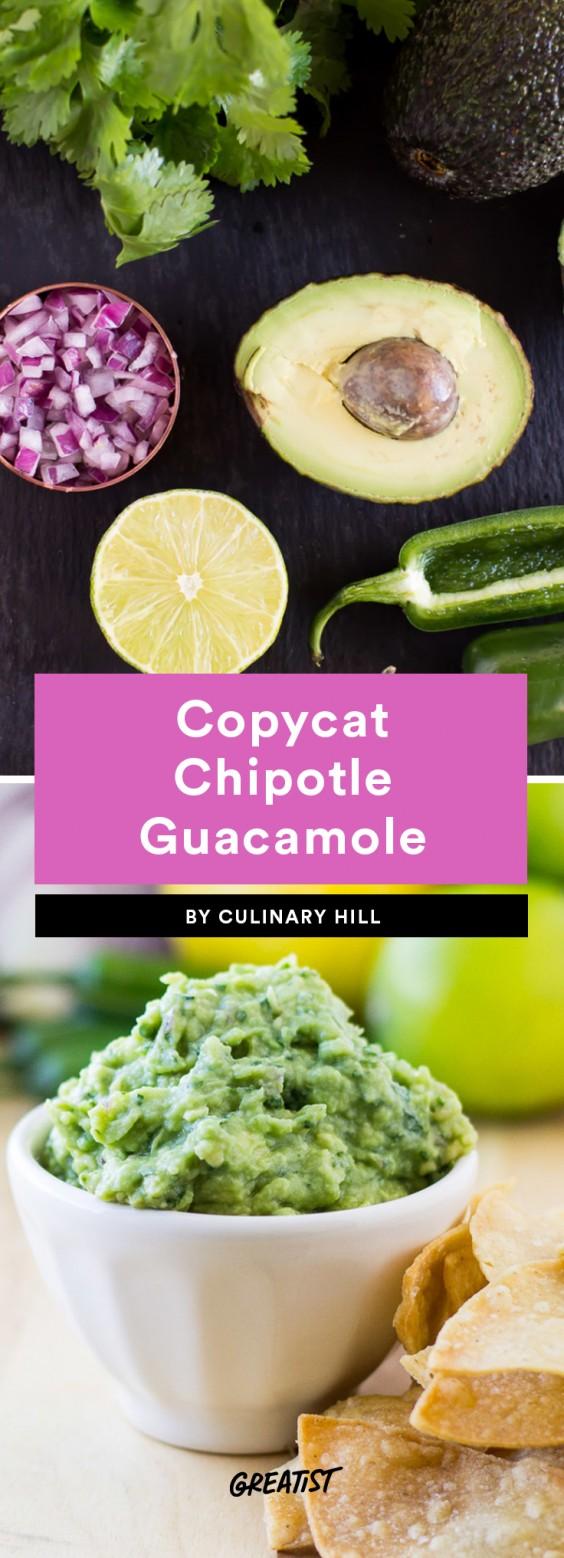 Copycat Chipotle Guacamole Recipe