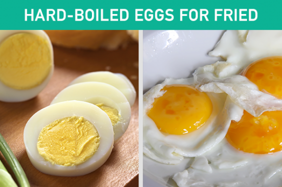 Hard-Boiled Eggs for Fried