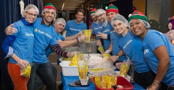 Hasbro Employees Volunteering