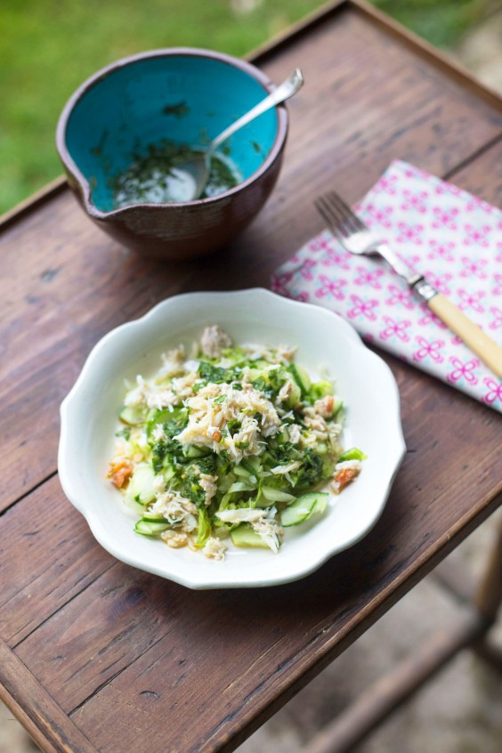 Whole30 Lunches: Crab Salad with Coriander Dressing