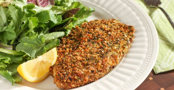 Healthy Recipe: Herb and Hemp Seed Crusted Tilapia