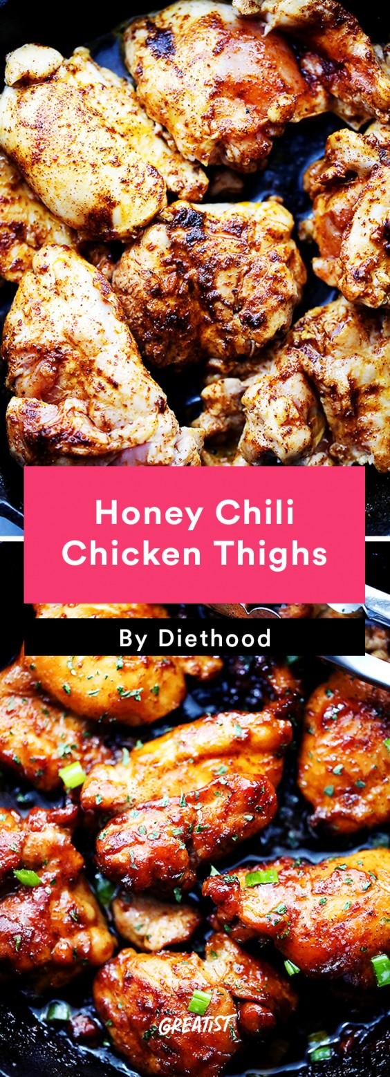 Chicken Thigh Recipes: Honey Chili Chicken Thighs