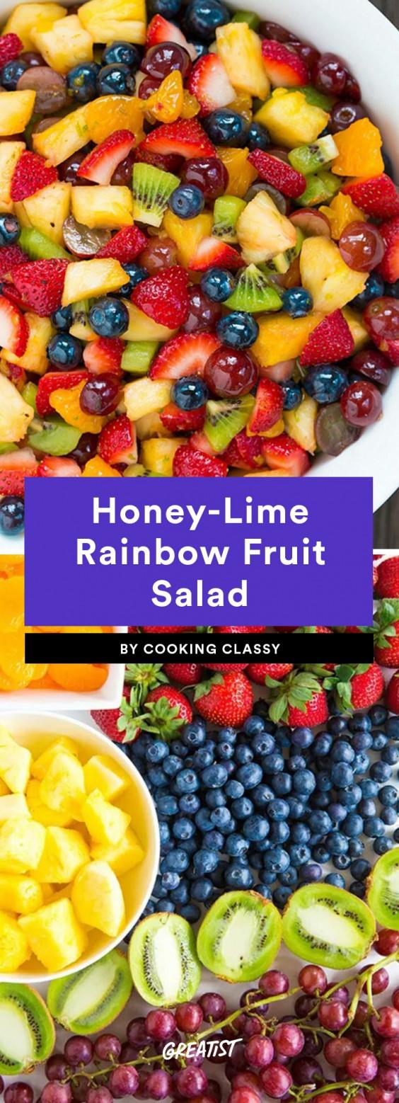 Honey-Lime Rainbow Fruit Salad