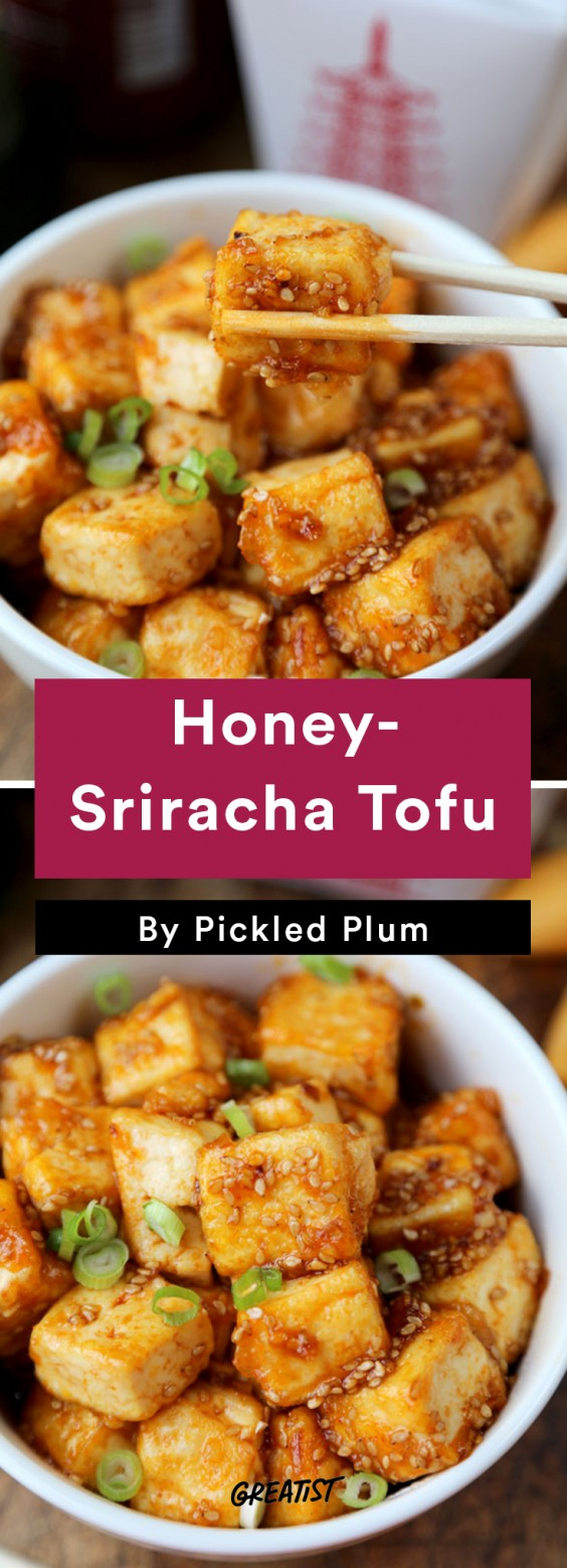 Pickled Plum: Honey-Sriracha Tofu