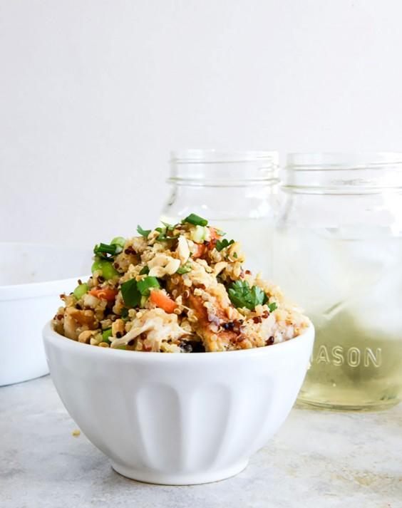 Healthy Grain Bowls: Thai Chicken Quinoa Bowl