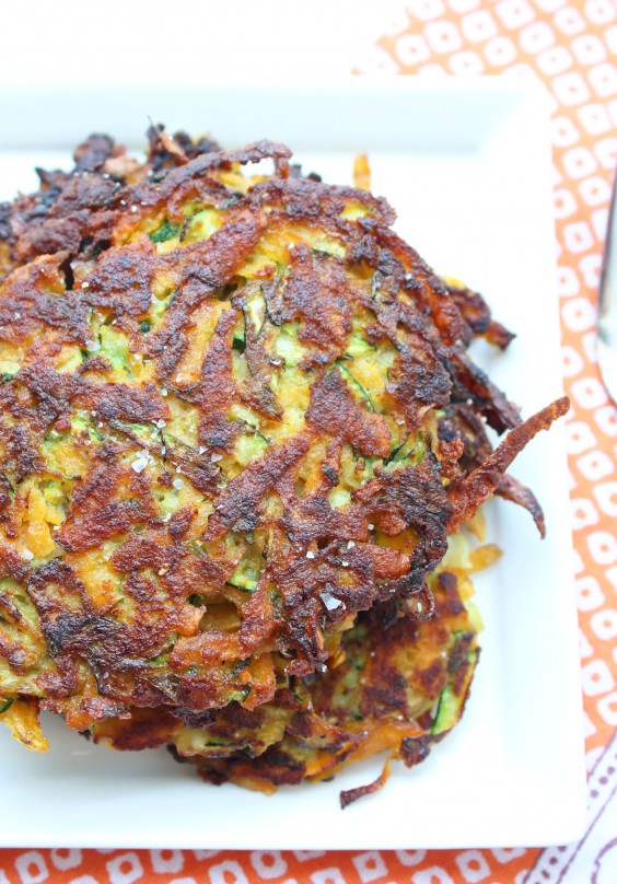 Whole30 Lunches: Sweet Potato and Zucchini Latkes