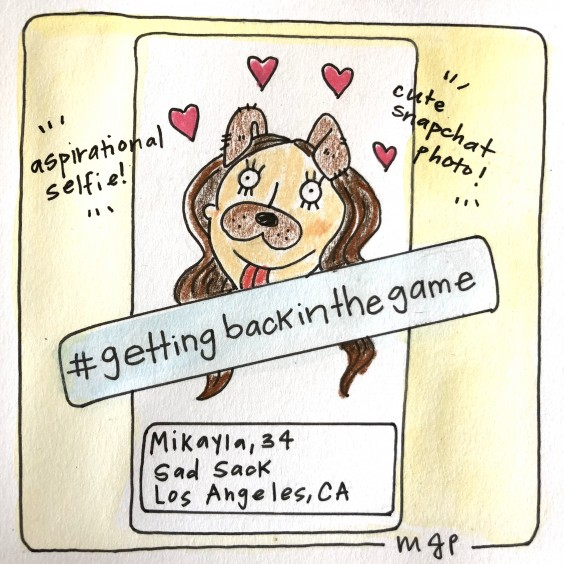 Hashtag Getting Back in the Game / Illustration by the author, Mikayla Park.