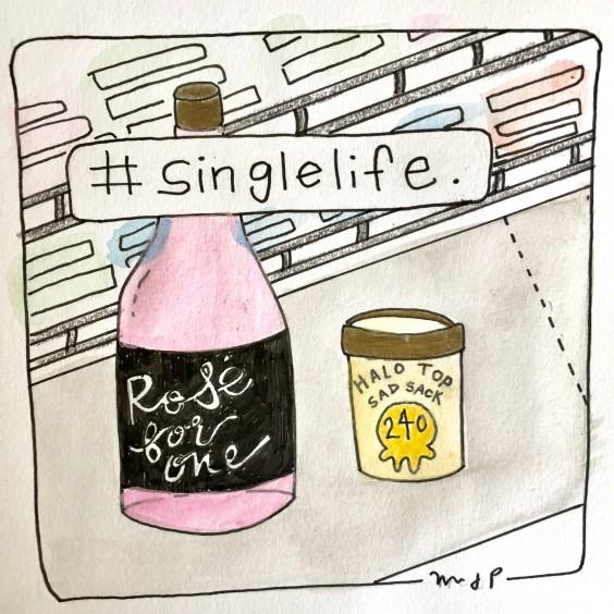 Hashtag Single Life / Illustration by the author, Mikayla Park.