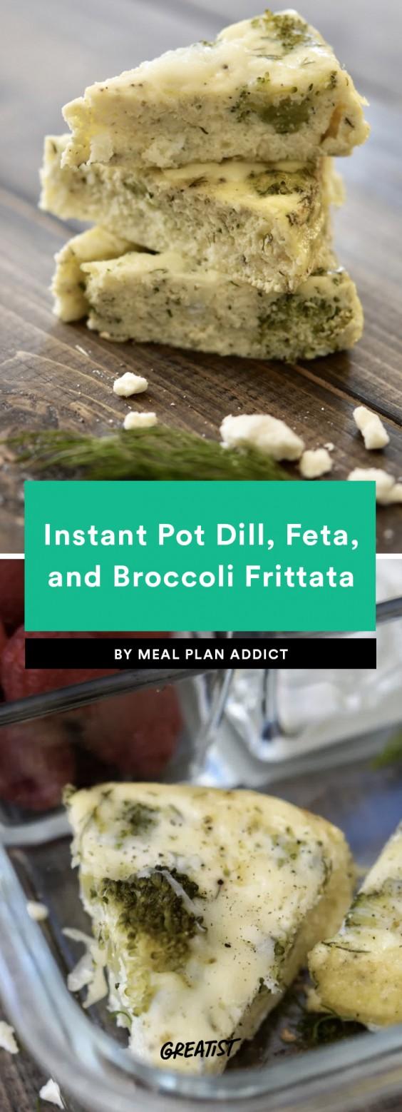 Instant Pot Dill, Feta, and Broccoli Frittata