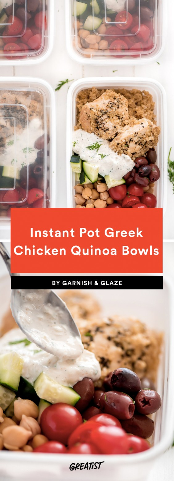 Instant Pot Greek Chicken Quinoa Bowls