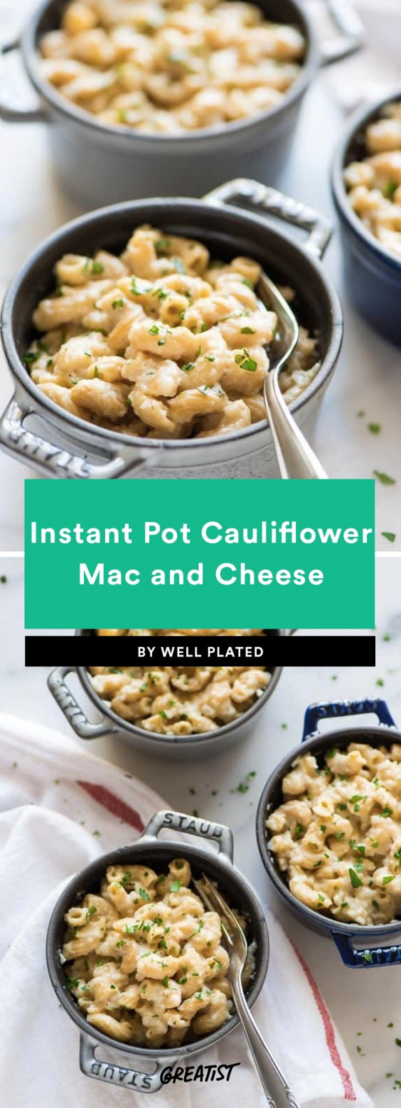 Instant Pot Cauliflower Mac and Cheese