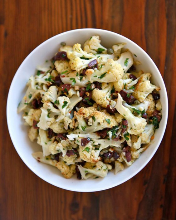 Italian Roasted Cauliflower Salad