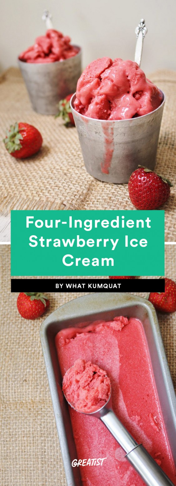 Four-Ingredient Strawberry Ice Cream