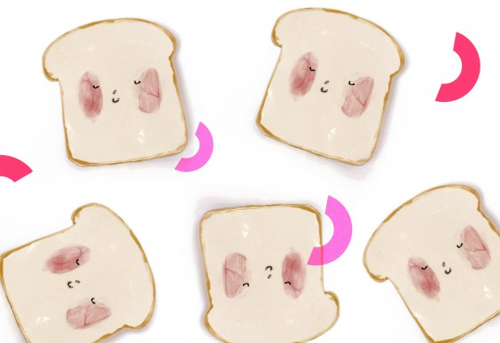Happy Toast Bread Plate