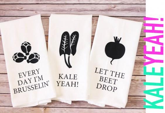 Veggie lover's tea towels