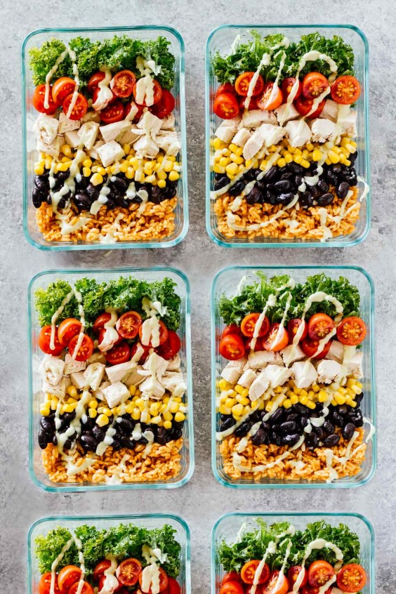 Healthy meals for one 25 single serving recipes greatist meal prep chicken burrito bowls forumfinder Images