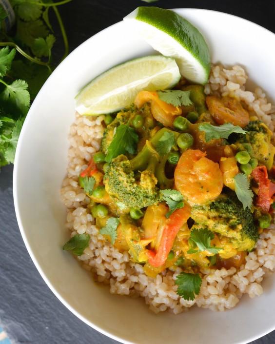 Shrimp: Coconut Curry