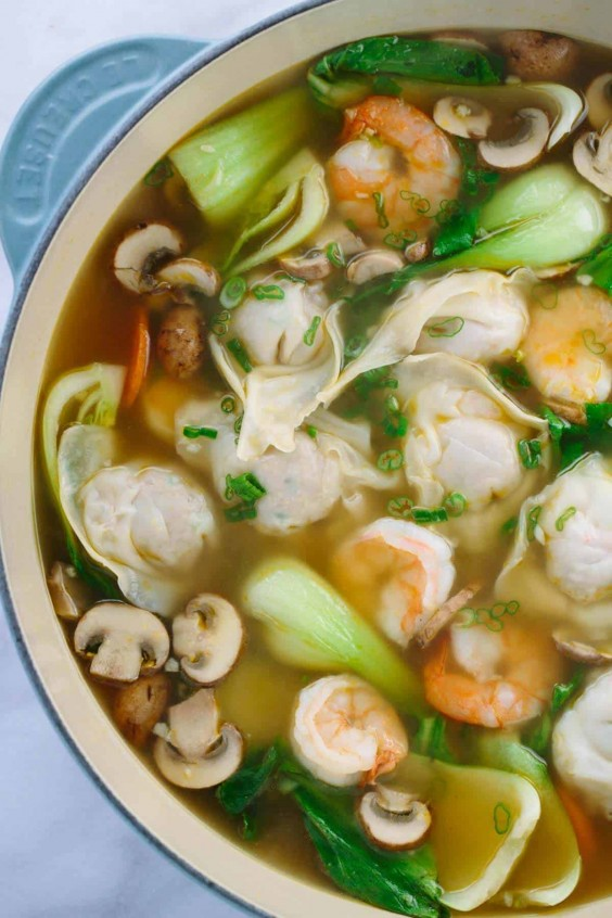 6. Homemade Wonton Soup