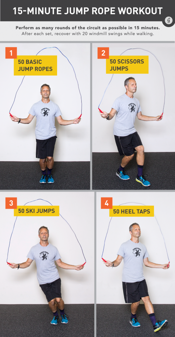 The 15-Minute Basic-But-Brutal Jump Rope Workout