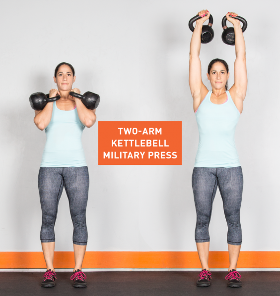 Two-Arm Kettlebell Military Press