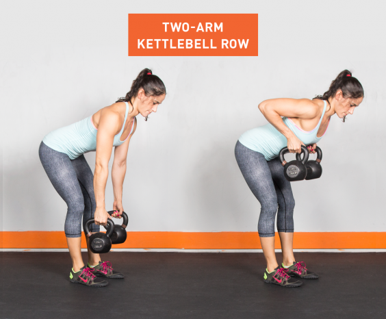 Two-Arm Kettlebell Row