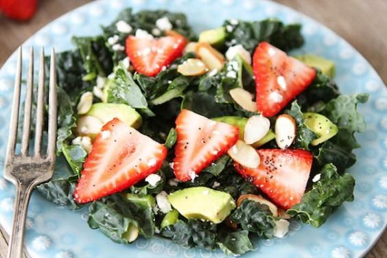 Kale Strawberry Salad