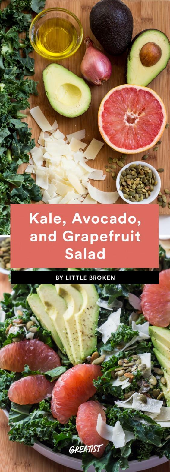 Kale, Avocado, and Grapefruit Salad Recipe